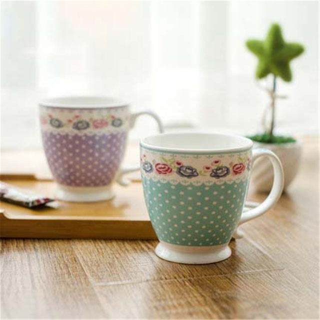 Flolar Water Coffee Mug Tea Cup Creative Goods Fincan Criativa Drinkware Personalized Elegant Eco Friendly