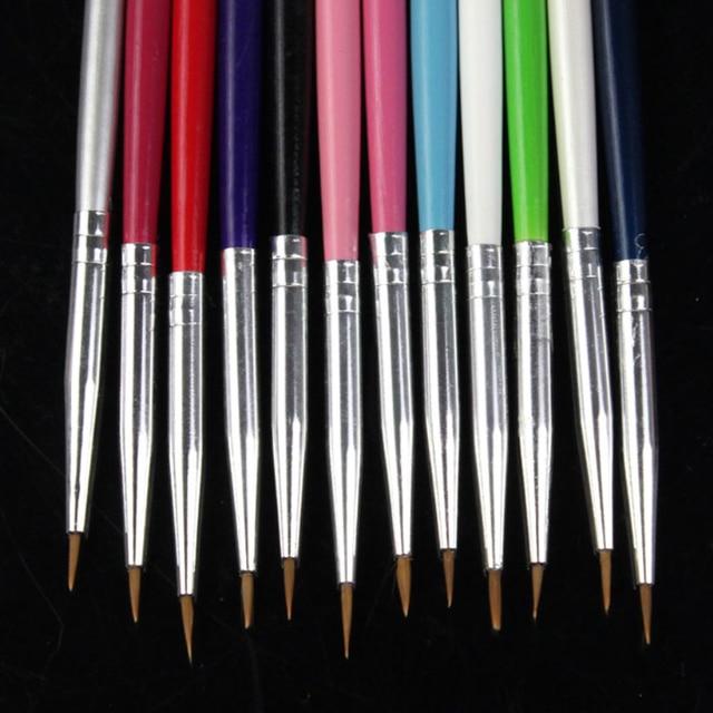 12 Pcs Colorful Nail Art Design Brush Pen Fine Details Tips Drawing