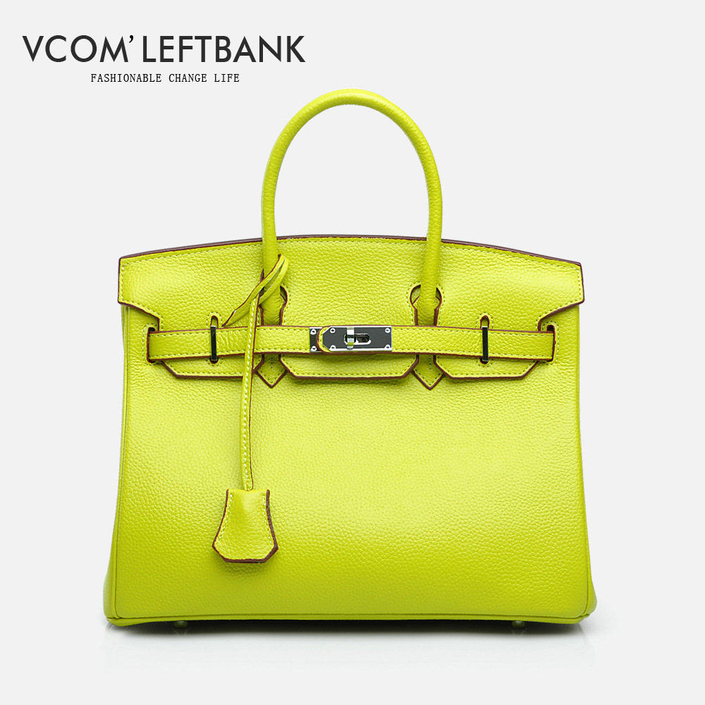 Vcom'Leftbank Luxury Brand Designer Genuine Leather Totes bag European Style Women Leather bags Elegant Women Fashion Handbags guess w80032l1