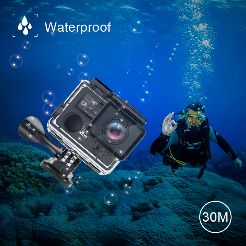 Image 3 - EKEN H5S Plus Action Camera HD 4K 30fps EIS with Ambarella A12 chip inside 30m waterproof 2.0 touch Screen  sport camera-in Sports & Action Video Camera from Consumer Electronics