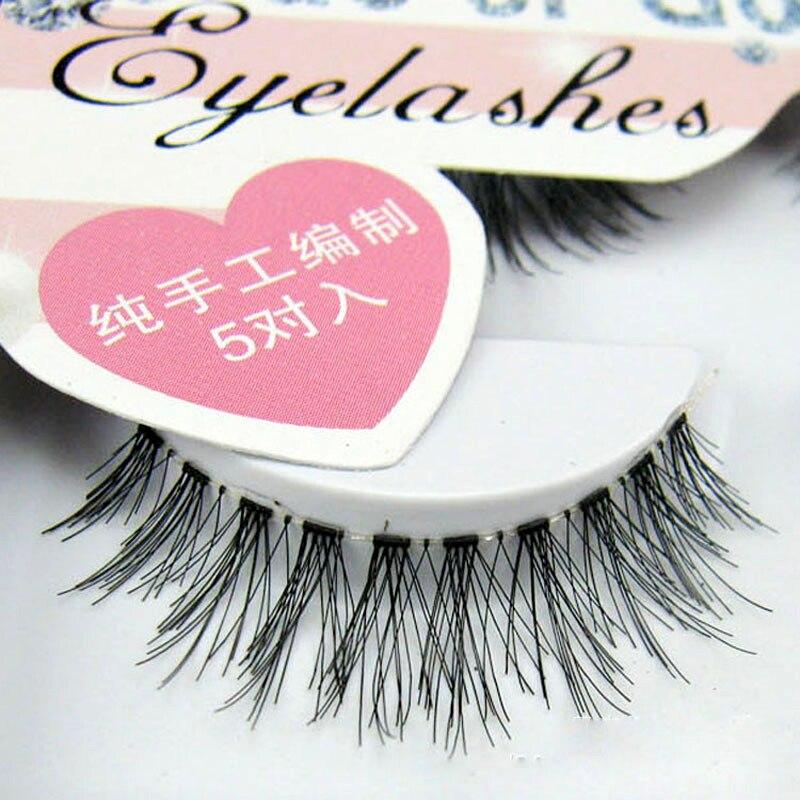 50Pairs False Eyelashes Extension Tools Messy Cross Thick Natural Long False Fake Eye Lashes Professional Beauty Makeup Tips