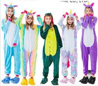 2017 Unicorn Stitch Giraffe Unisex Flannel Pajamas Adults Cosplay Cartoon Animal Onesies Sleepwear Hoodie For Women