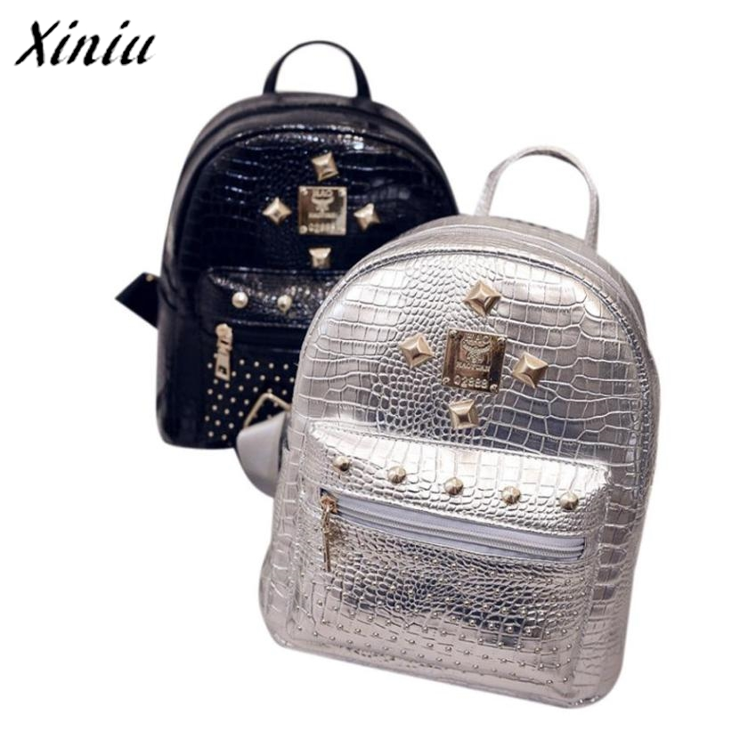 Bolsas 2017 Vintage Leather Backpack women Travel Zipper Backpacks for teenage girls School bags for women Mochila escolar
