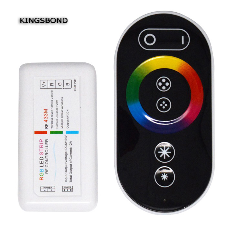 DC12V-24 4CH RF wireless Mini led Dimmer with wall mounted touch remote led strip RGB controller