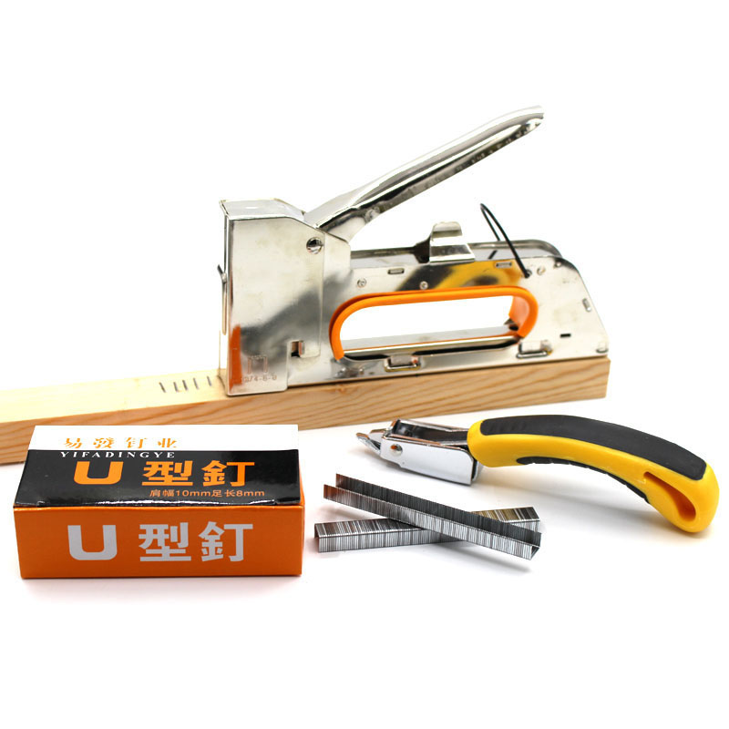 4/6/8MM Heavy Hand Nail Gun  Painting Tools Furniture Stapler For Framing Paper Window With Woodworking Tacker