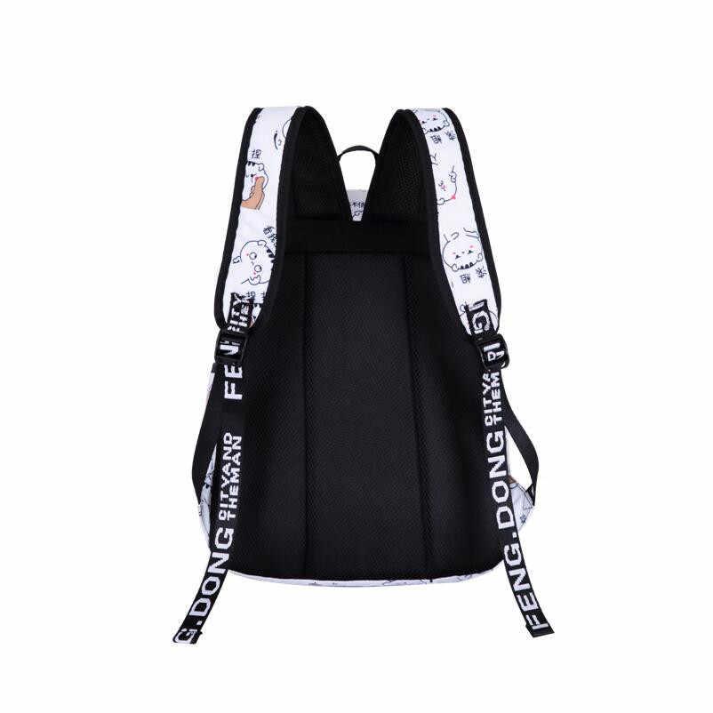 Scuola di moda Zaino Carica USB Borse Da Scuola Per Le Ragazze Le Donne Zaino Schoolbag Satchel Dello Zaino del Bambino Bambini del Sacchetto di Scuola Mochila