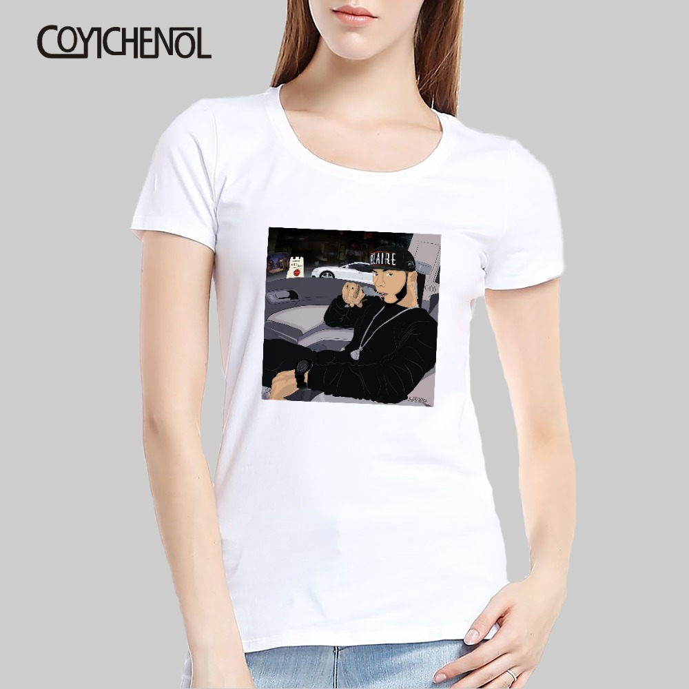 Anuel Aa customize print tshirt women hiphop casual modal solid color top regular short sleeve o-neck lady slim