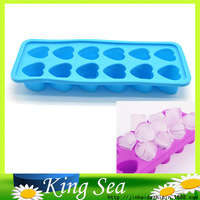 Eco friendly Food Grade 12 Heart Shape Silicone Ice Cube Tray Mini Ice Cubes Small Heart Mold Ice Maker, Ice Cream Tools