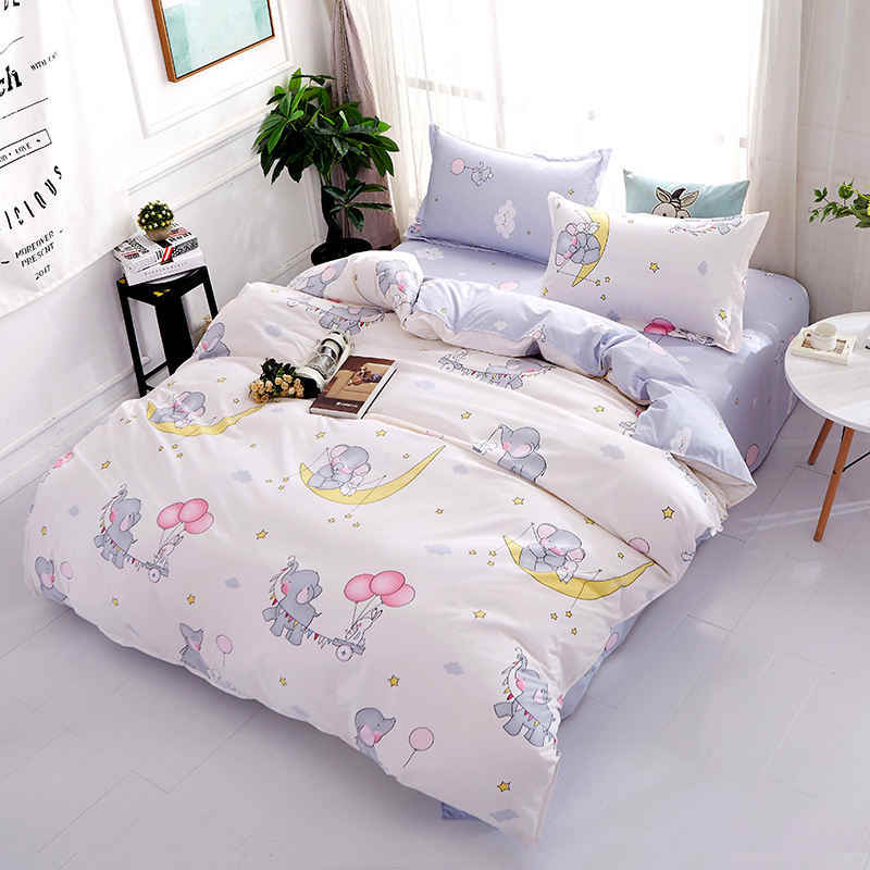 Elephant Girl Boy Kid Bed Cover Set Duvet Cover Adult Child Bed Sheets And Pillowcases Comforter Bedding Set 2TJ-61015