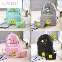 Charming Nice CONEED Best Gift CONEED Women Smile Lether Backpacks Rucksck Trvel School Bag Shoulder Bags