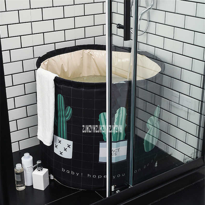 Folding tub Portable Plastic Tub Foldable Water Home Single Spa Massage