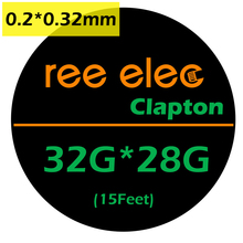 REE ELEC 15Feet 32G*28G Clapton Wire Heating Wire E-Cigarette Vaporizer Prebuilt Coil DIY Tools For RDA Atomizer Clapton Wire A1