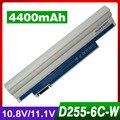 Blanco 4400 mah batería del ordenador portátil para acer ak.003bt. 071 ak.006bt. 074 al10a31 al10b31 al10g31 bt.00603.114 bt.00303.022 lc. btp00.129