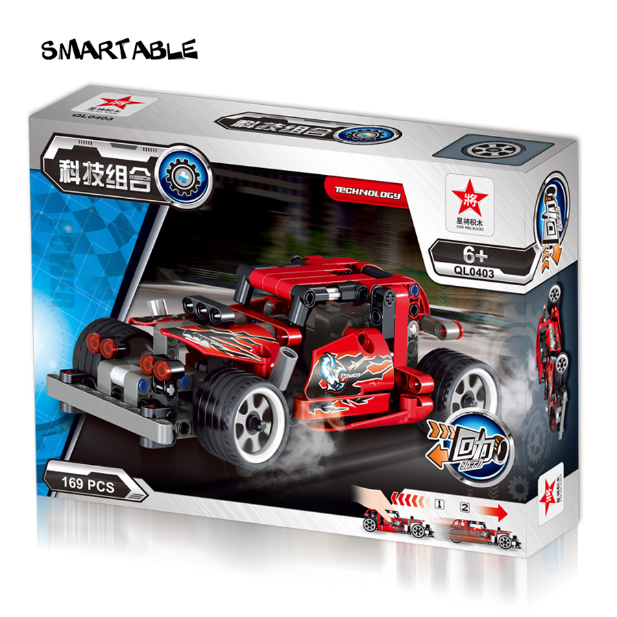 Smartable LEPIN Technic series Reckless Racing Cars Building Brick Blocks 0403 Boys Toys GIFT Compatible Legoed Technic  LR-819 lepin 22001 pirate ship imperial warships model building block briks toys gift 1717pcs compatible legoed 10210