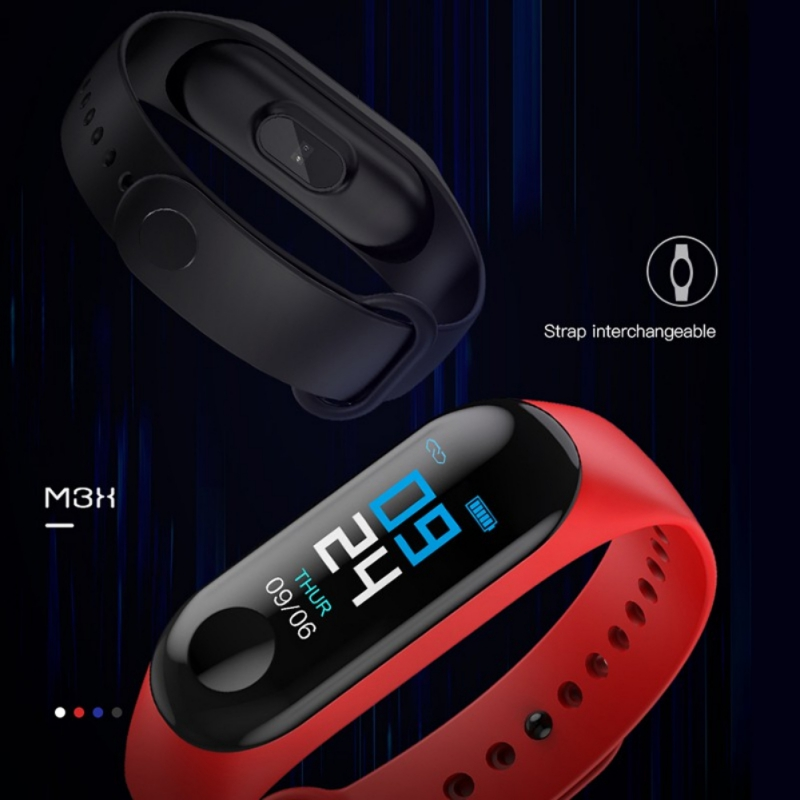 M3 Smart Watch USB Charging Screen IP67 Smart Pedometer Movement Steps Blood Pressure Monitoring