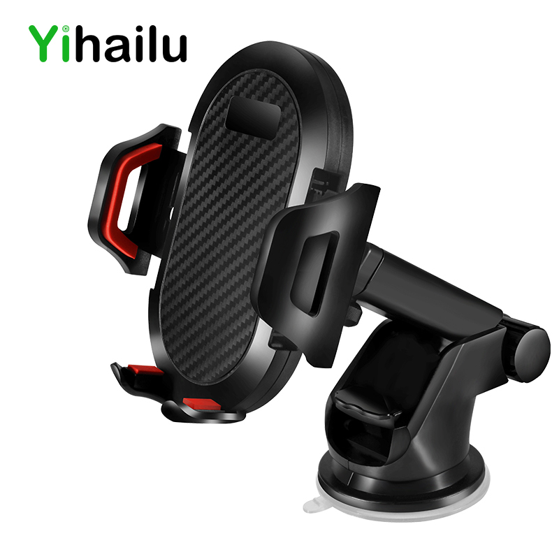 Universal Car Phone Holder Sticky GPS Suction Support 360 Rotate Adjustable 3.5-6 inch Bracket For iPhone Samsung Houder Titular