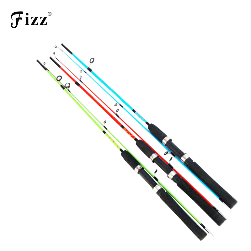 Cheap Solid Glass Fiber Lure Fishing Rod 1.2/1.35/1.5M Fishing Rod Pole for River Lake Sea Boat Fishing Random Color Low Price