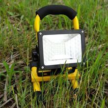 Наружный портативный водонепроницаемый перезаряжаемый IP65 24 светодиодный аварийный светильник с прожектором на строительной площадке Точечный светильник с углом освещения 120 °