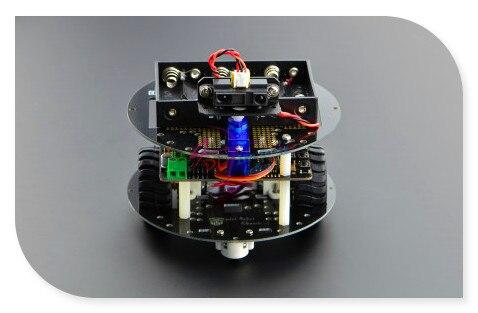 DFRobot MiniQ Discovery Smart car Kit, Romeo V2 controller +GP2Y0A21 Distance Sensor + 9g micro servo for kids Education/Contest