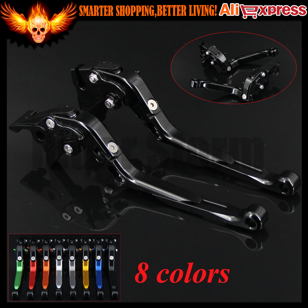 CNC Adjustable Folding Extendable Motorcycle Brake Clutch Levers For Kawasaki VERSYS (650cc) 2009 2010 2011 2012 2013 2014 adjustable motorcycle cnc billet short folding brake clutch levers for aprilia rsv4 factory 2009 2015 2010 2011 2012 2013 2014