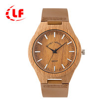 QW Sports  Free Sample Leather Minimalist Unisex OEM Hot Selling Bamboo Brand Wholesale Custom Men Wood Sport Watch