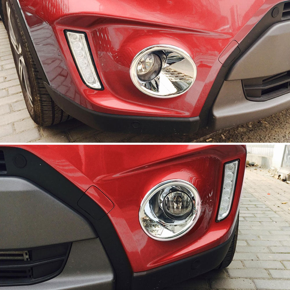 Chromium Styling 2Pcs Car ABS Exterior Front Fog Lamp Light Cover Trim Fit for Suzuki Vitara 2016 Accessories Car Styling in Chromium Styling from Automobiles Motorcycles