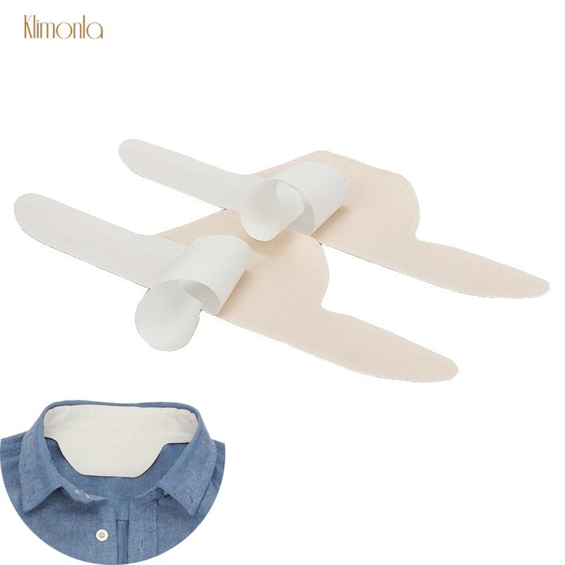 100pcs Disposable Unisex Collar Absorbing Pads Summer T Shirt Armpit Sweat Pads Perspiration Absorb Anti Deodorants