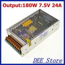 Из светодиодов драйвер 180 Вт 7.5 В 24A один выход блок регулируемая импульсный источник питания для из светодиодов полосы света AC-DC преобразователь