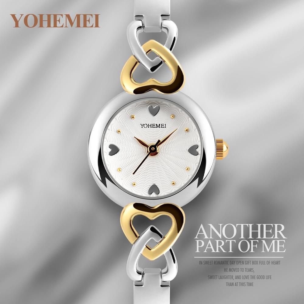 YOHEMEI 2017 New Famous Ladies Watch Silver Bracelet Relogio Feminino Waterproof Quartz Clock Female Dress Wristwatch