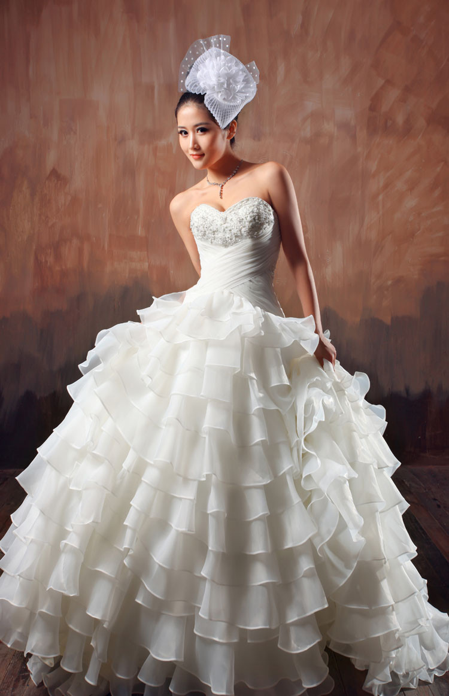 beige chiffon wedding dress with embellished belt beige wedding dress Beige Chiffon Wedding Dress With Jewelled Belt