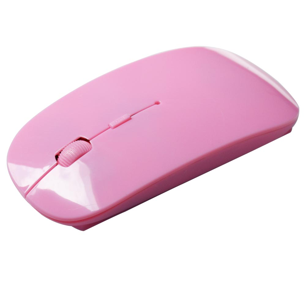 2.4G Wireless Mouse 1600 DPI USB Optical Wireless Computer Mouse 2.4G Receiver Super Slim Mouse Pink one size 3