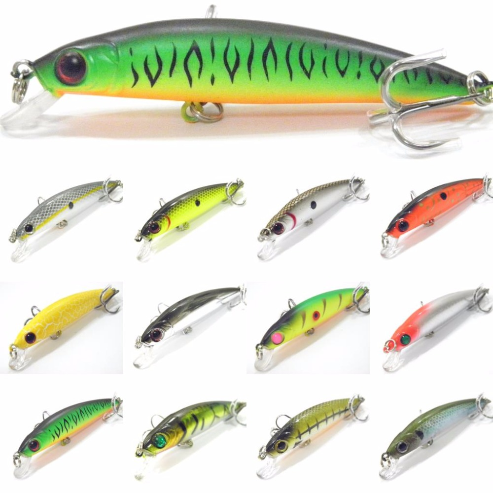 wLure Minnow Crankbait Hard Bait Lightweight Tight Wobble Slow Floating Jerkbait Plastic Beads Sound Fishing Lure M641 5pcs lot minnow crankbait hard bait 8 hooks lures 5 5g 8cm wobbler slow floating jerkbait fishing lure set ye 26dbzy