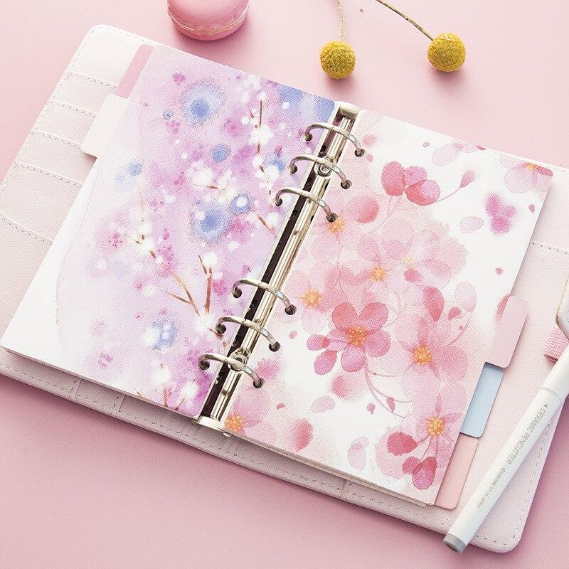 5 Blätter/pack A5 A6 Lose Blatt Index Papier Kategorie Seite Sakura Separator Trennung Teiler Seite Für Notebook Notebooks & Schreibblöcke Notebooks