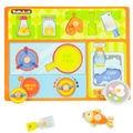 Brinquedos de Desenvolvimento precoce Educacional 3D de Madeira Jigsaw Puzzles Cozinha Playset Casa Placa De Madeira Cérebro Teaser de Puzzle para Crianças