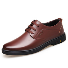 Famous brand breathable wear-resistant mens shoes new business casual soft bottom leather lace-up men