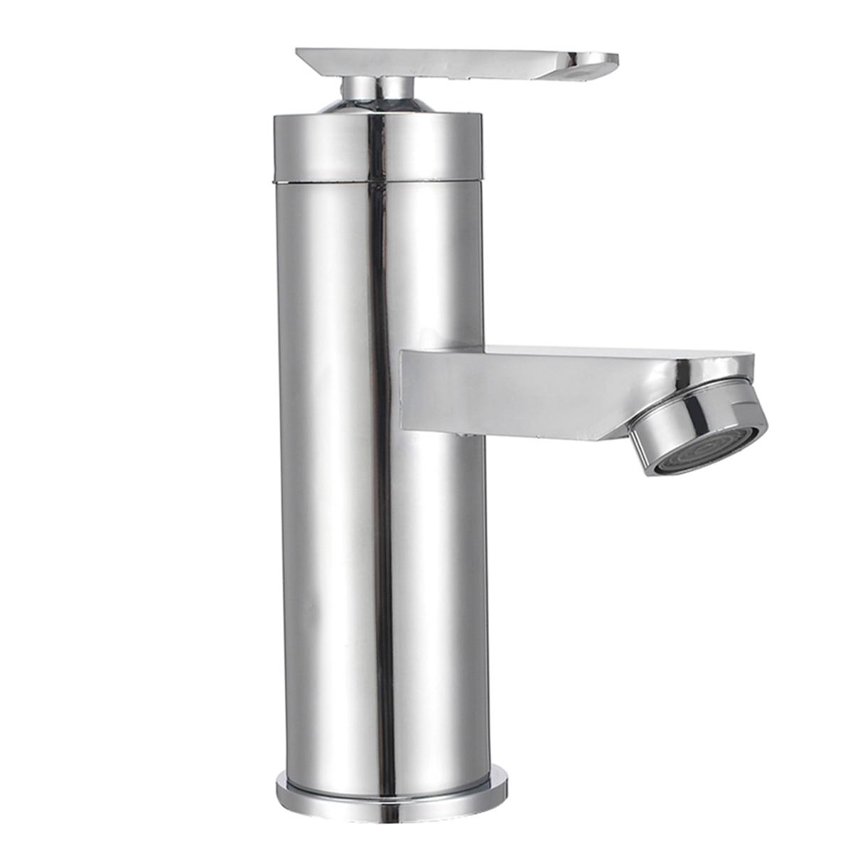 Mayitr хромированный кран для раковины с водопадом, кран для раковины с одной ручкой, кран для холодной и горячей воды, кран для ванной комнаты, ...