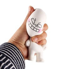 2017 New High Quality 1 PC steamed bread man PU Soft Early Intelligence Educational Toys Funny Dolls Toys