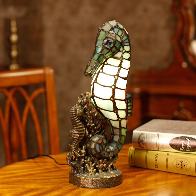 Tiffany in the bedroom lamp Nightlight creative novelty handmade gift color glass decorative lamp tiffany parrot corridor lamp hanging creative decorative lamp handmade art limited special lamp df42