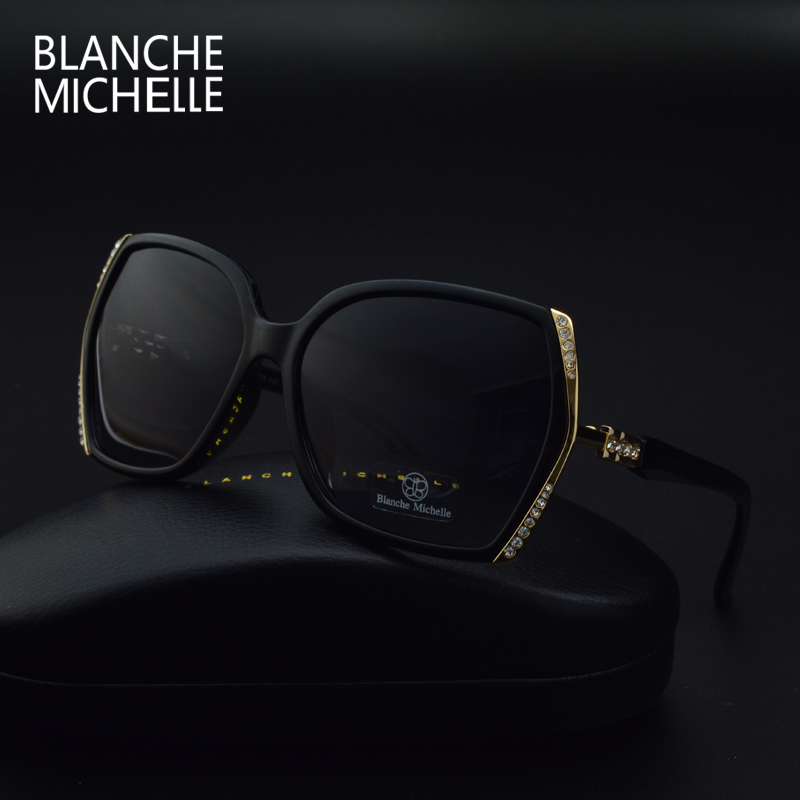 Image 5 - Blanche Michelle High Quality Oversized Polarized Sunglasses Women UV400 oculos de sol Gradient Driving Sun Glasses With BoxWomens Sunglasses   -