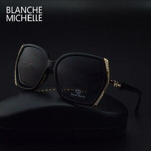 Image 5 - Blanche Michelle occhiali da sole polarizzati oversize di alta qualità donna UV400 oculos de sol Gradient Driving occhiali da sole con scatola