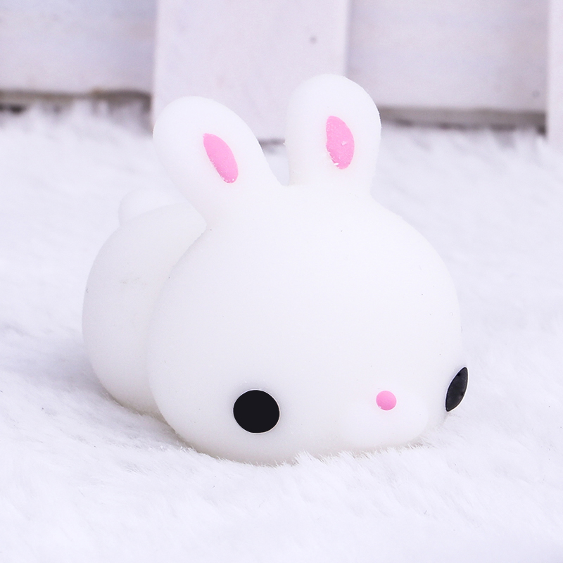 1pc Fun Antistress Ball Toy Cute Seals Rabbit Duck Sheep Emotion Vent Resin Relax Doll Adult Stress Relieve Novelty Toy Gift