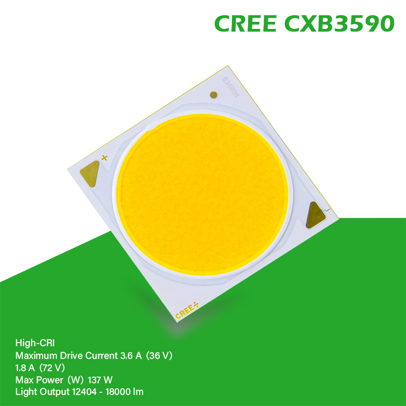 COB LED Grow Light CREE CXB3590 CXB 3590 3000K 3500K 5000K 12000LM Original Chip High Power Lumens For DIY Plant Growing Lamp