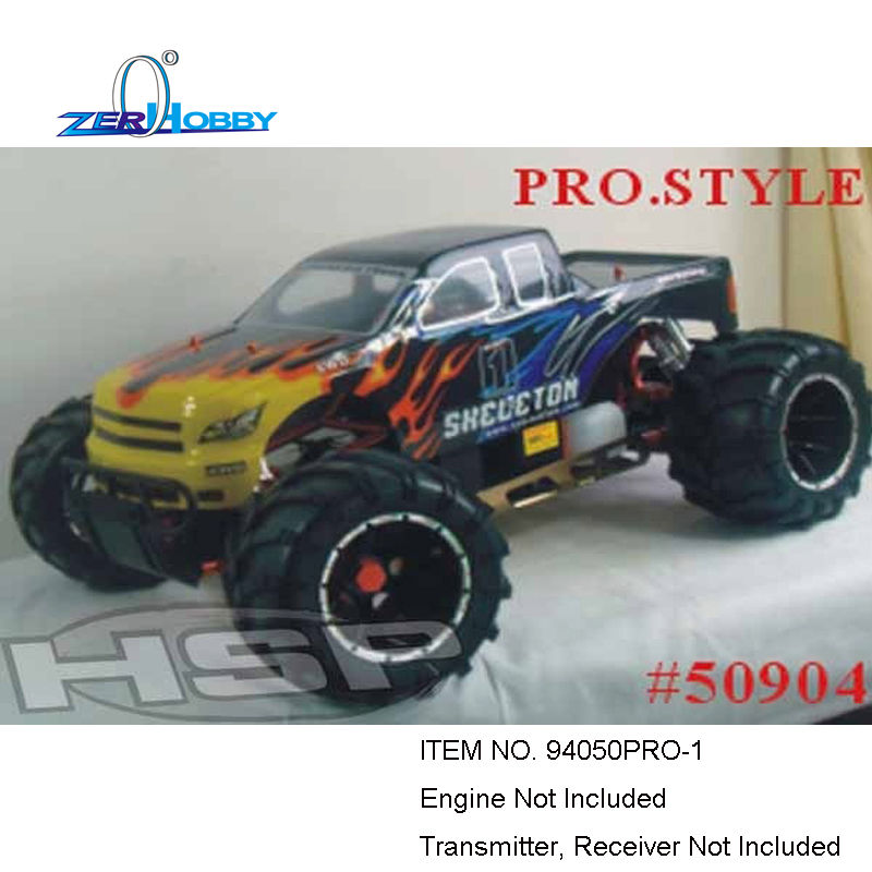 HSP RACING RC CAR SKELETON 94050PRO-1 WITHOUT ENGINE WITHOUT TX RX 1/5 SCALE GAS POWERED 4WD OFF ROAD MONSTER TRUCK hsp racing rc car troian pro 94185top 1 16 scale 4wd off road electric powered brushless buggy car ready to run
