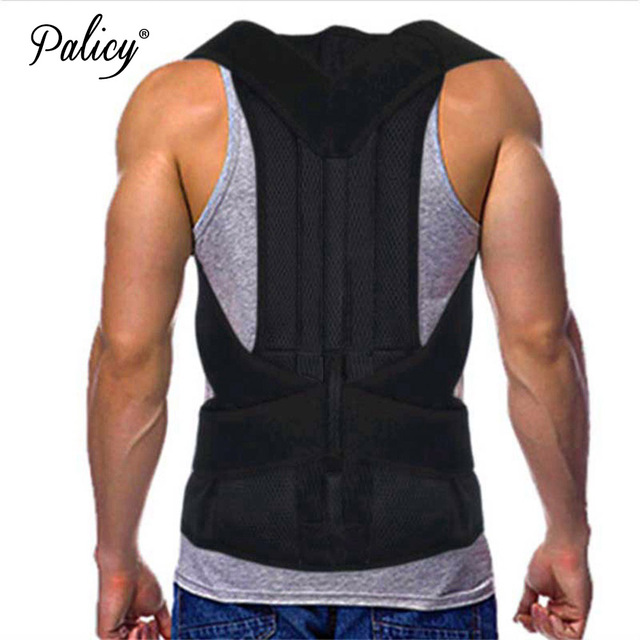 Palicy Neoprene Shapewear for Men Bodysuit Corset Male Back Lumbar Sauna Suit Brace Strap Waist Cincher Posture Corrector Belt