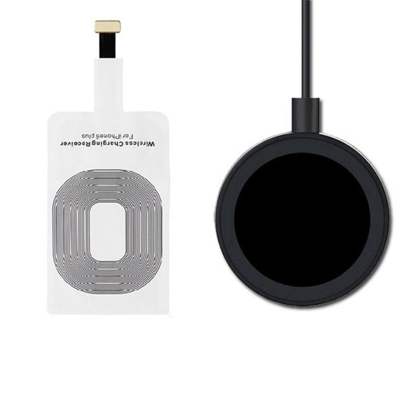qi wireless charger kit usb charger adapter charging. Black Bedroom Furniture Sets. Home Design Ideas