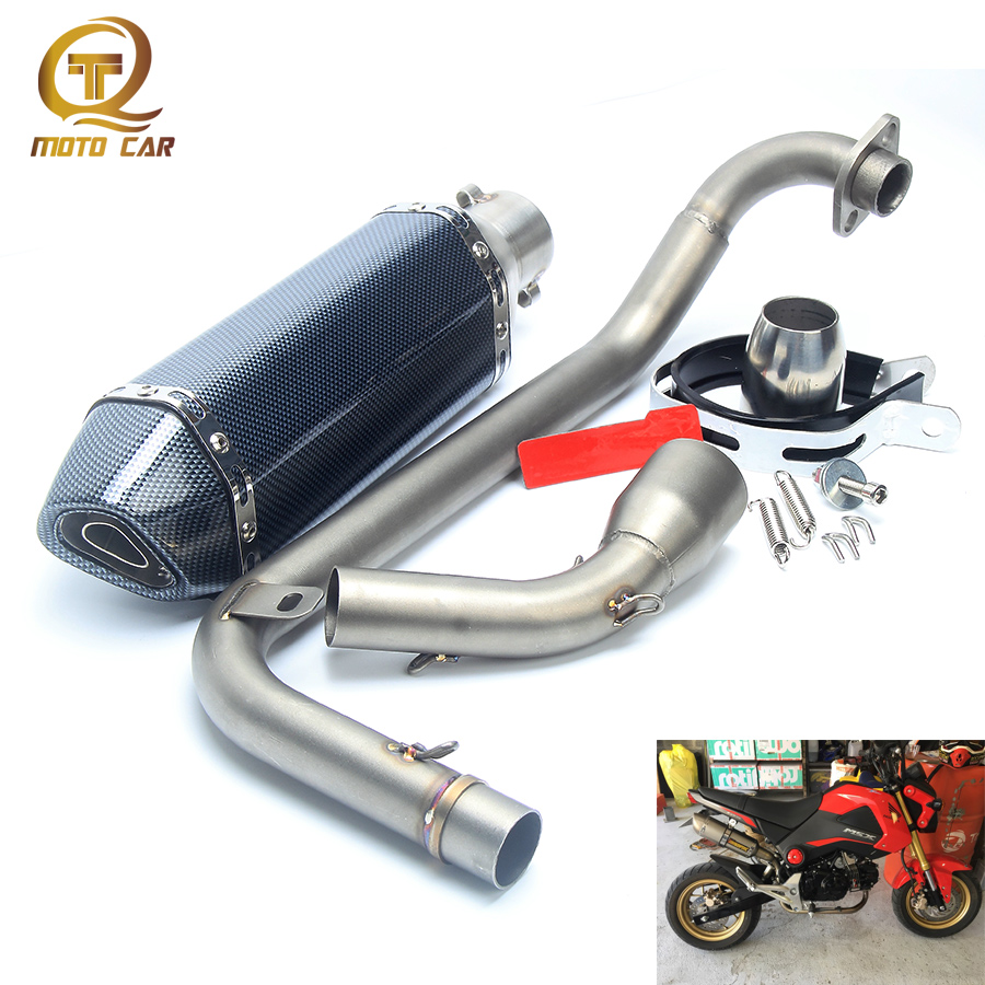 все цены на Motorcycle Exhaust System Muffler DB Killer System Full Exhaust Muffler Pipe Front Link Pipe Escape Silencer For Honda Msx125 онлайн