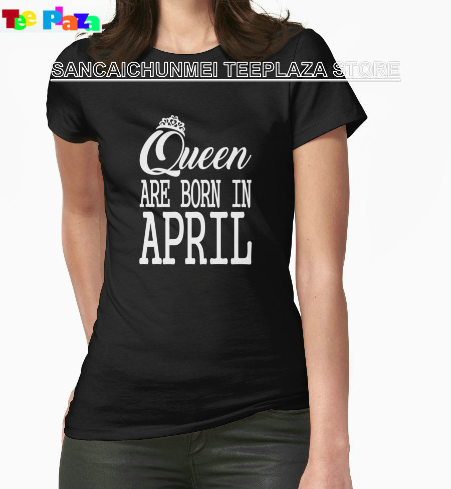 Design your own t shirt good quality - Teeplaza Create Your Own Shirt Design Women S O Neck Graphic Short Sleeve Queen Are Born