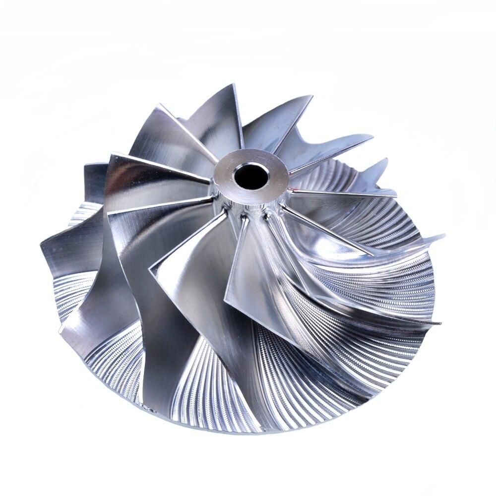 Kinugawa Turbo Billet Compressor Wheel 44.5/60mm 11+0 for Garrett GT15~GT25 kinugawa turbo billet compressor wheel 47 1 60 13mm 11 0 raise over height for garrett gtx2860r 813711 0003