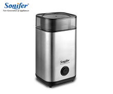 220V Mini Electric Coffee Grinder maker Stainless Steel Beans Mill Herbs Nuts Sonifer