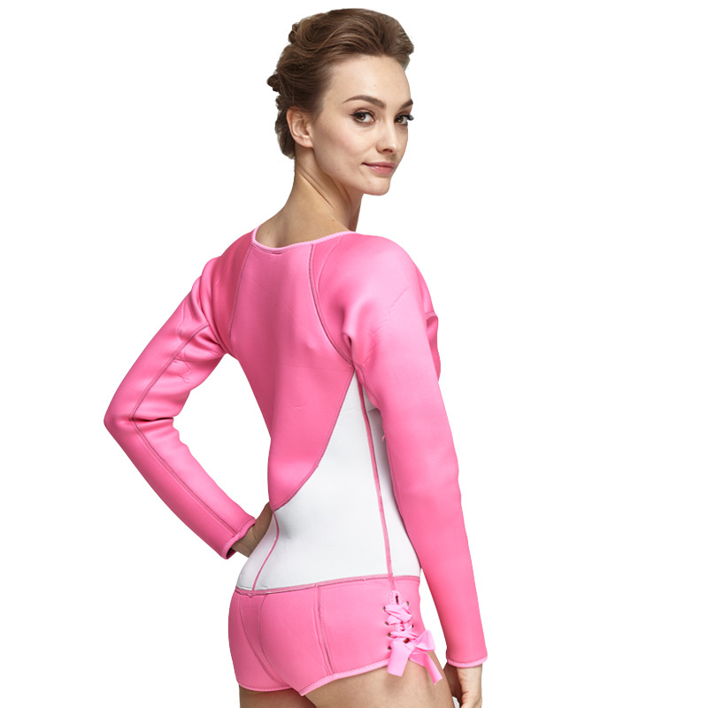 SBART 2017 New 2MM Neoprene One Piece Wetsuits Women Long Sleeve Warm Anti-UV Women Spearfishing Swimming Diving pink sbart upf50 rashguard 2 bodyboard 1006